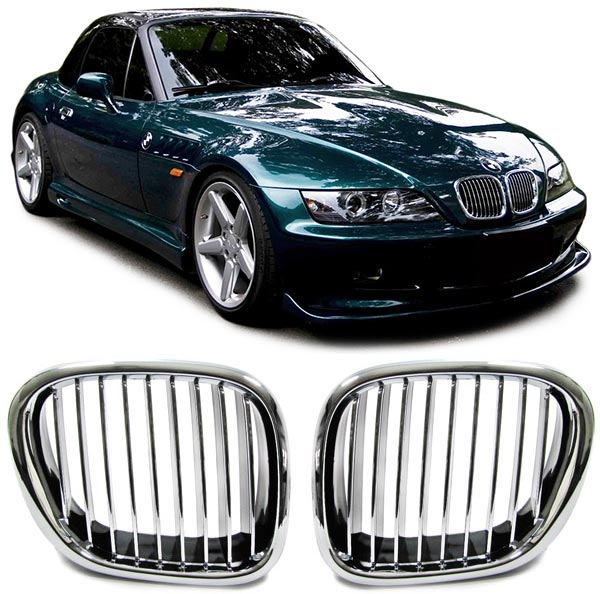 Bmw Z3 Colours: FRONT GRILLS CHROME FOR BMW Z3 1996 SPOILER BODY KIT NEW