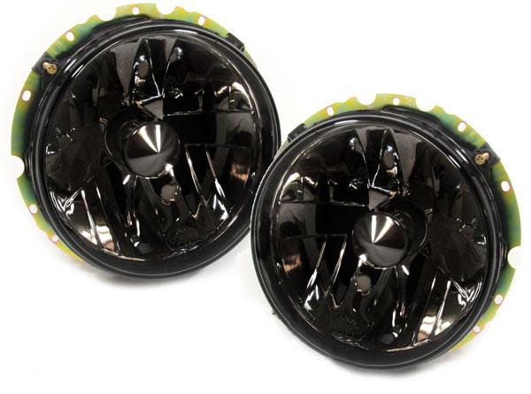 schwarze klarglas scheinwerfer f r vw golf 1 cabrio ebay. Black Bedroom Furniture Sets. Home Design Ideas