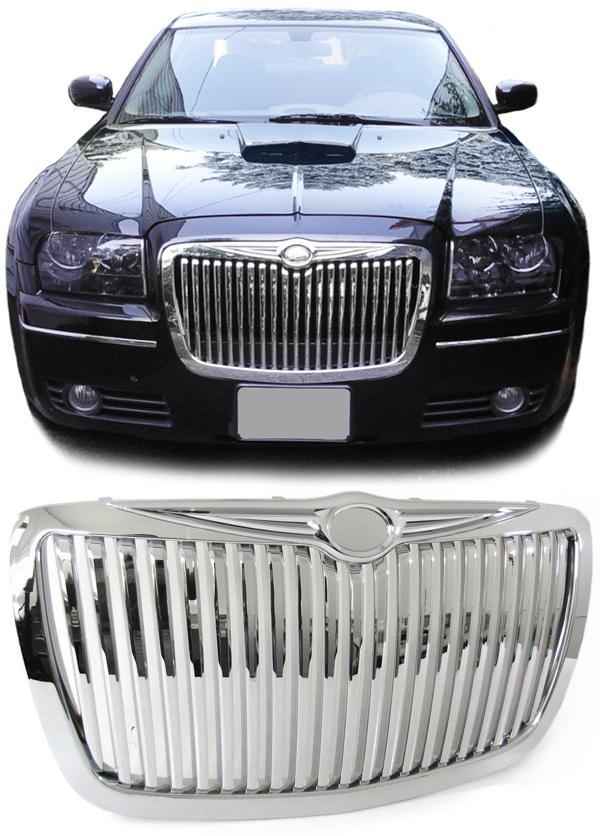 sport calandre grill rolls royce look chrome pour chrysler 300c 04 11 ebay. Black Bedroom Furniture Sets. Home Design Ideas