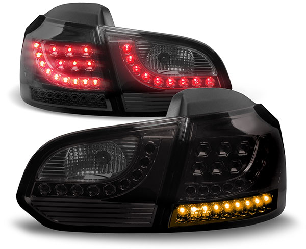 led r ckleuchten led blinker schwarz f r vw golf 6 ab 08. Black Bedroom Furniture Sets. Home Design Ideas