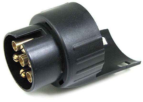 auto anh nger stecker adapter kurz pkw 7 polig kfz auf. Black Bedroom Furniture Sets. Home Design Ideas