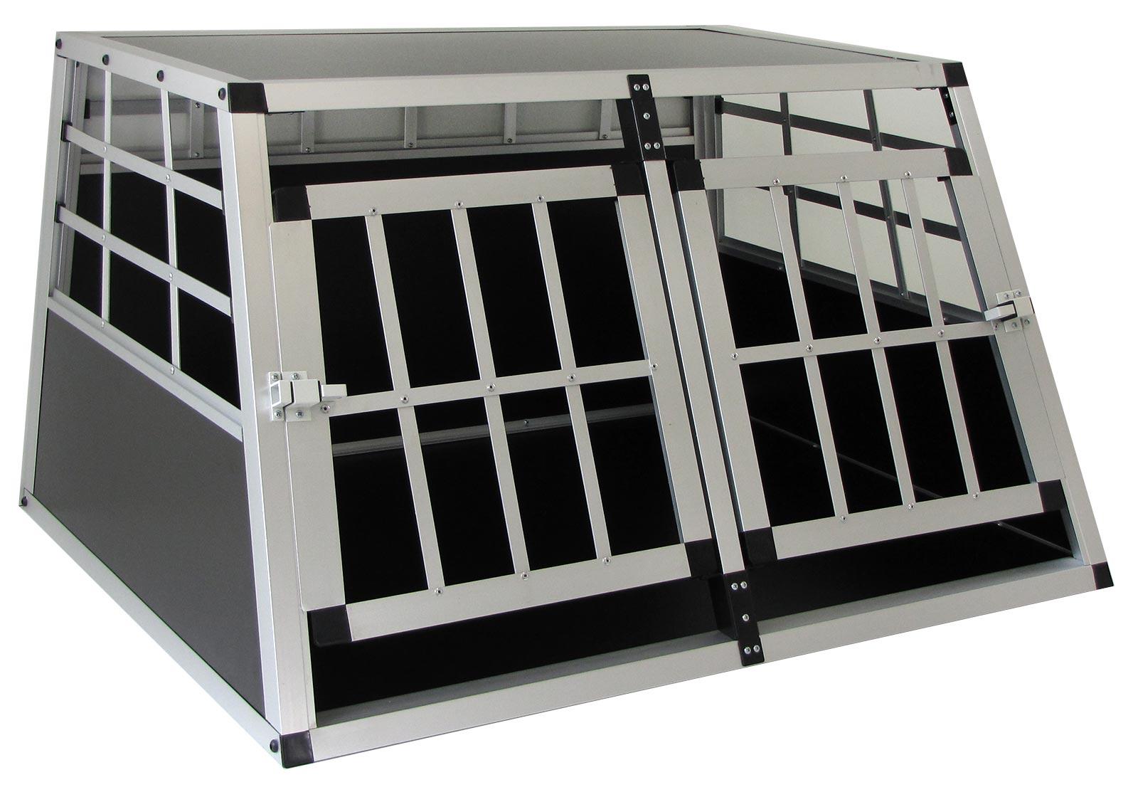 Carparts-Online 29954 Alu Hunde Tier Reise Auto Transport Box mit T/ür