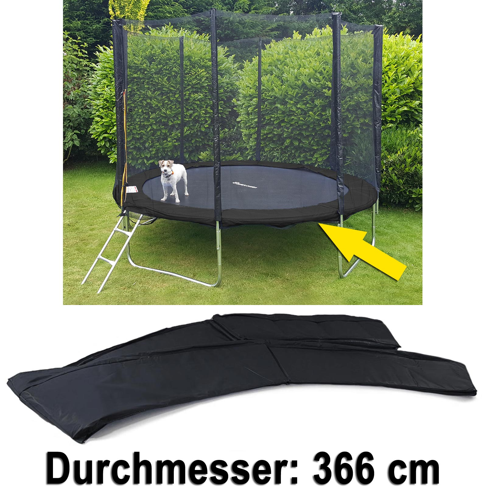 sicherheits schutz rand abdeckung f r trampolin. Black Bedroom Furniture Sets. Home Design Ideas