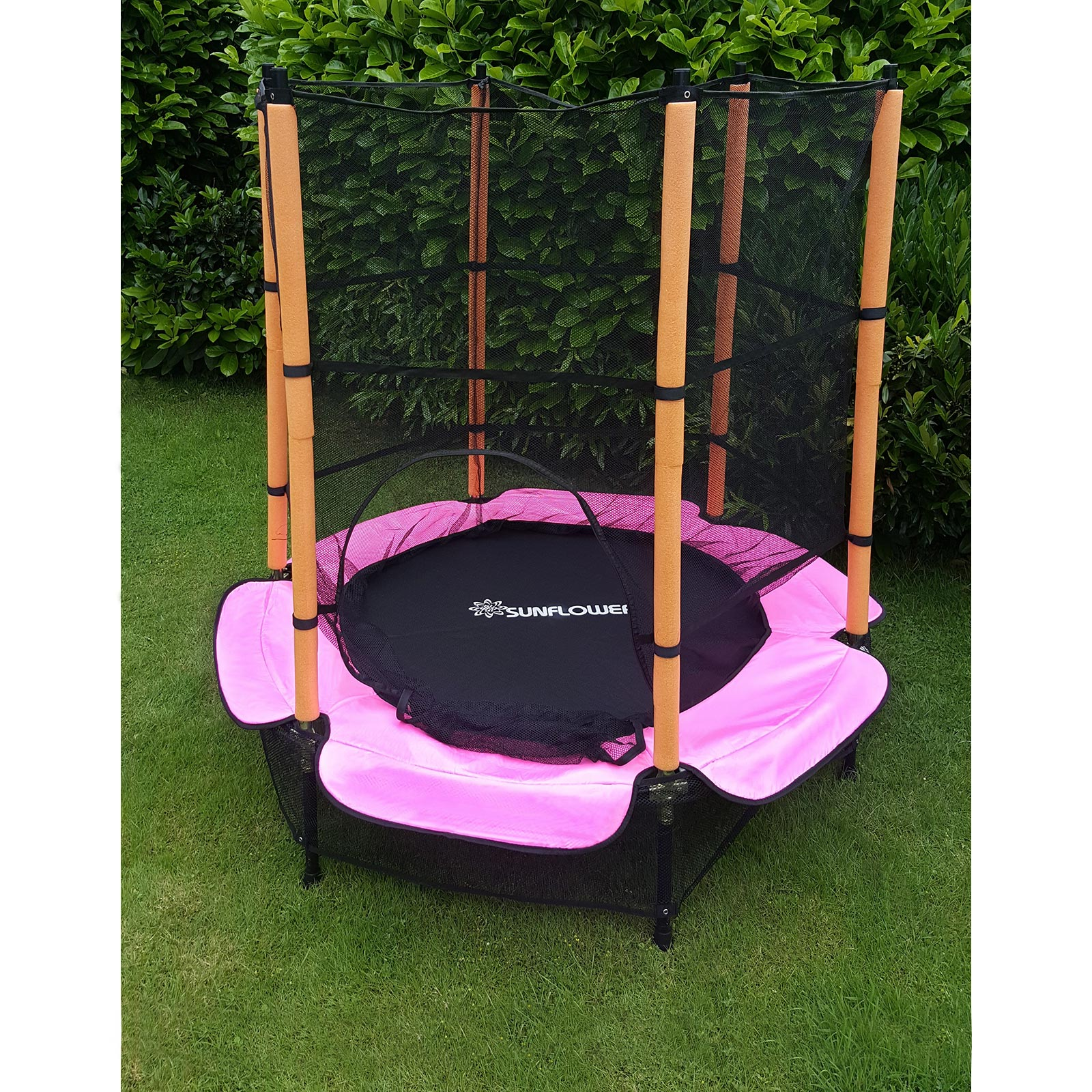 trampolin 140 cm komplett mit sicherheitsnetz pink ebay. Black Bedroom Furniture Sets. Home Design Ideas