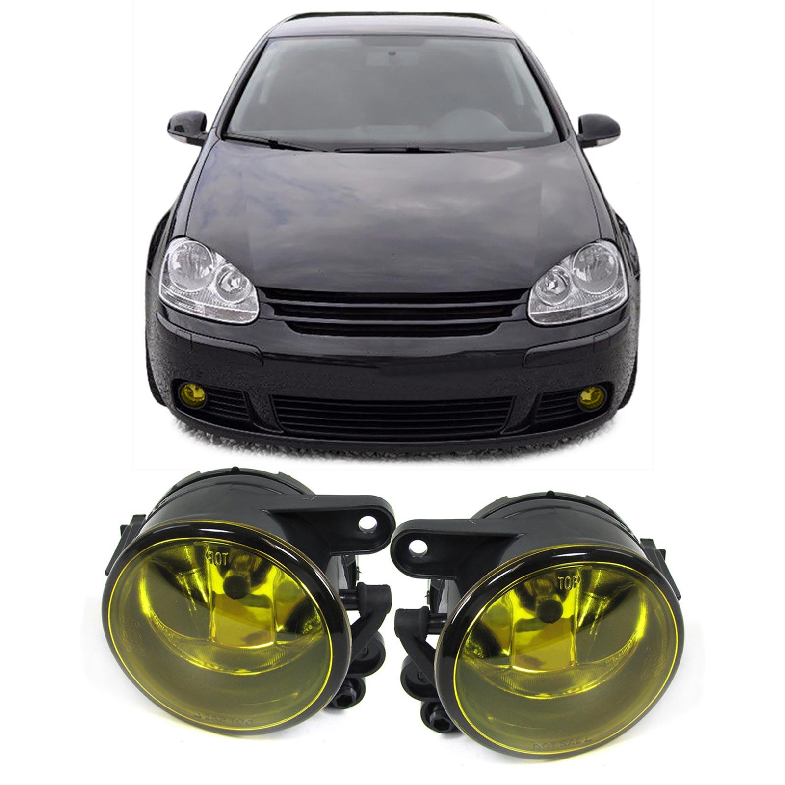 klarglas nebelscheinwerfer hb4 gelb paar f r vw golf v 5. Black Bedroom Furniture Sets. Home Design Ideas