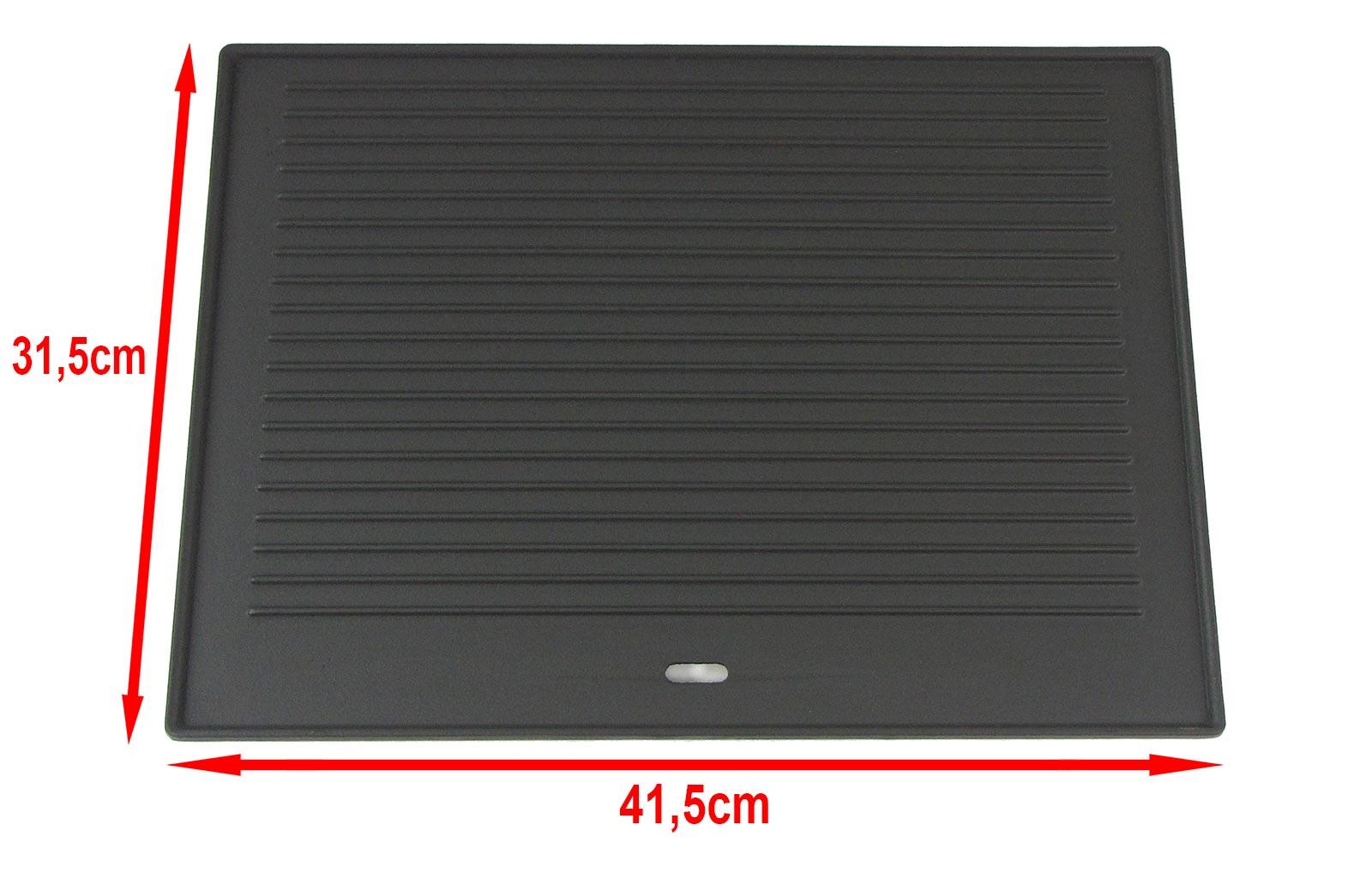 grillplatte wendeplatte pizzaplatte gusseisen f r gas grill 41 5cm x 31 5cm ebay. Black Bedroom Furniture Sets. Home Design Ideas