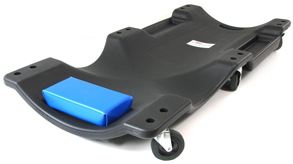 profi werkstatt rollbrett montageliege mit ablagefl 228 chen 100cm blau schwarz ebay