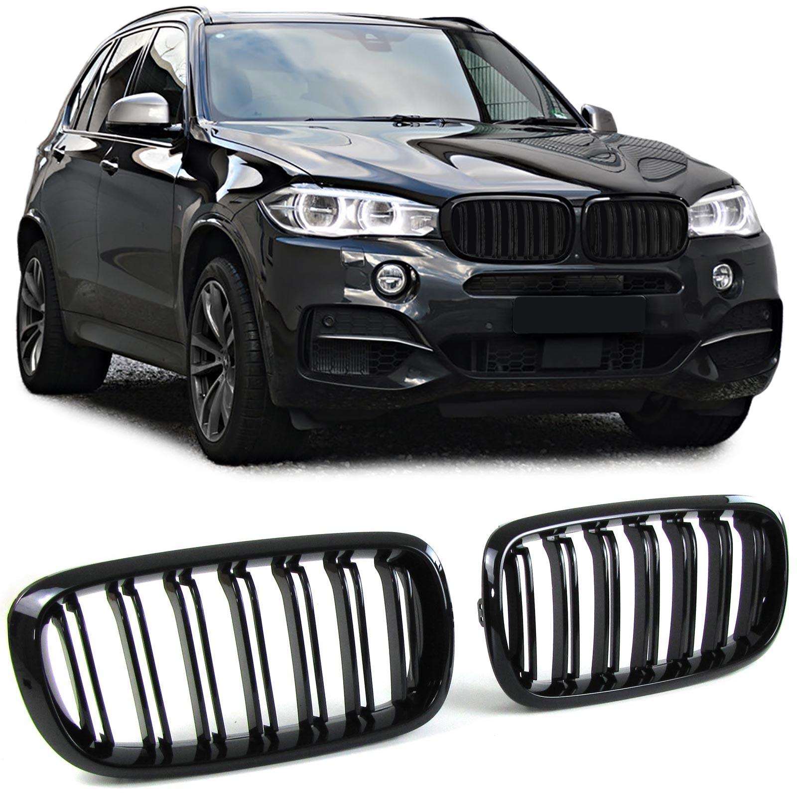 BMW X5 E53 99-03 Paire M Performance noir brillant Rein Grilles Calandre Grills
