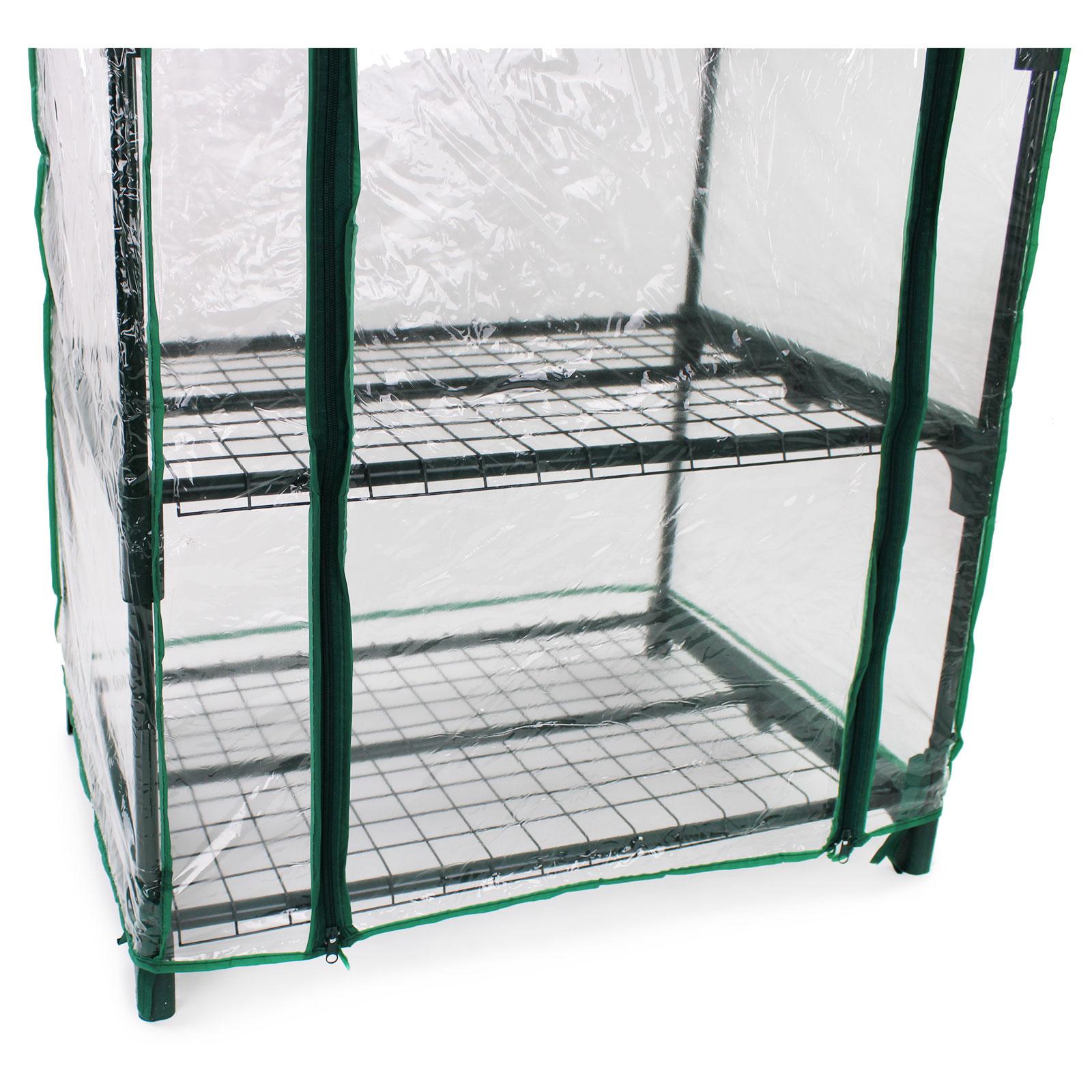 Per serre da giardino serra serra con porta verde 690x490x1630mm