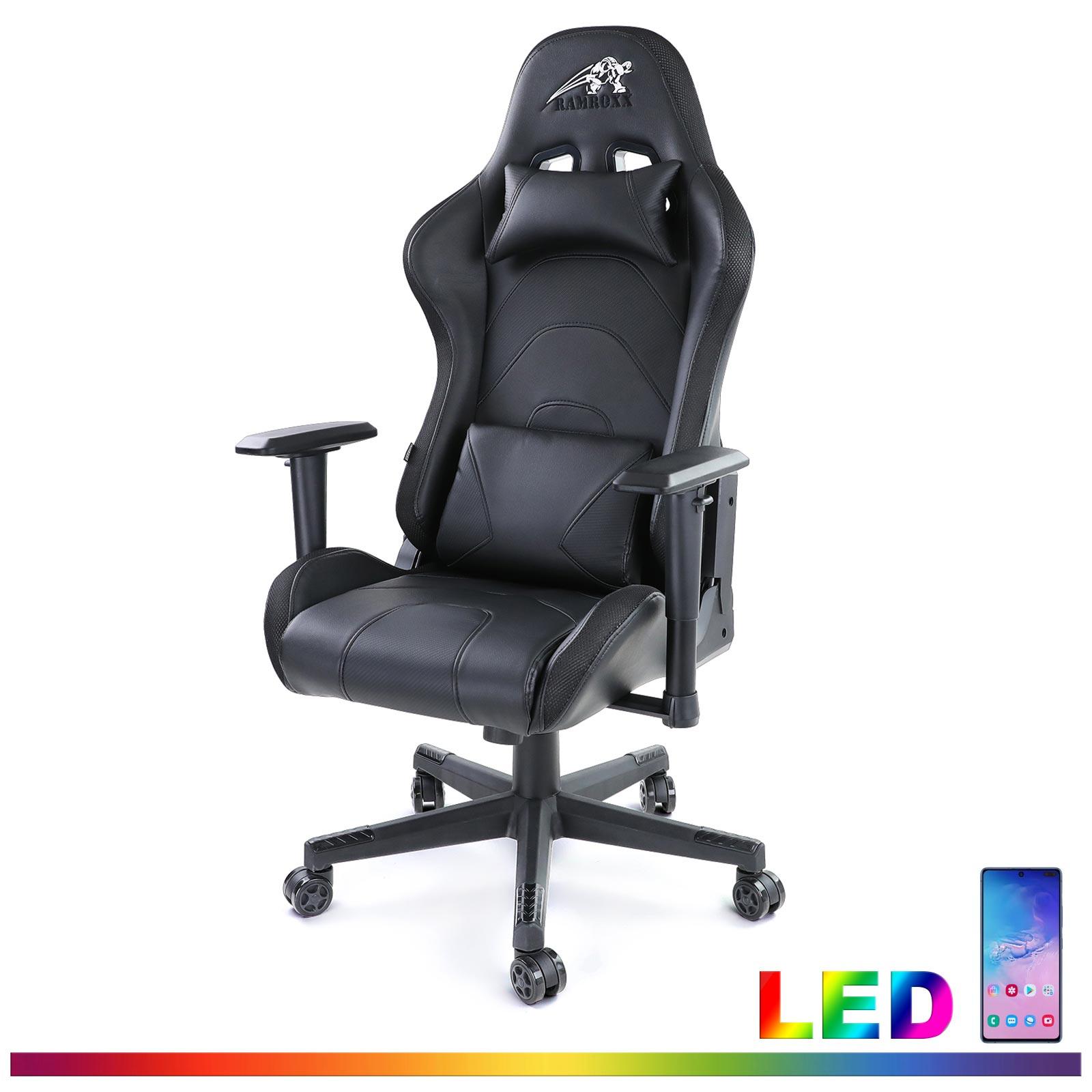 Gamingstuhl Esport Chefsessel Stuhl Schreibtisch Sportsitz Mit Led Beleuchtung Ebay