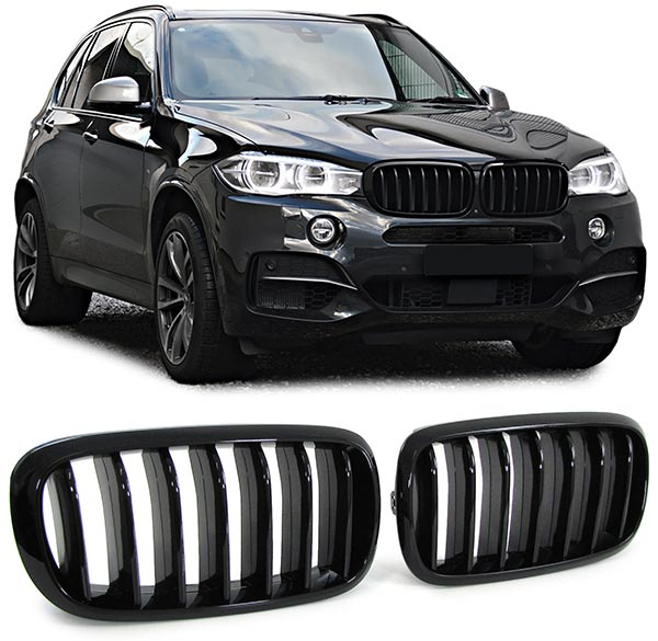 bmw x5 f15 sport nieren grill hoogglans pianolak zwart. Black Bedroom Furniture Sets. Home Design Ideas