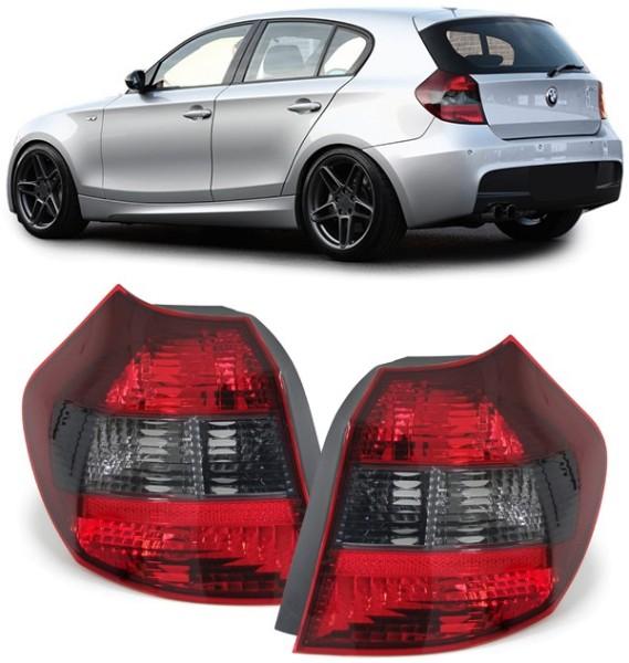 Rückleuchten rot schwarz - Paar für BMW 1ER E81 E87 04-07