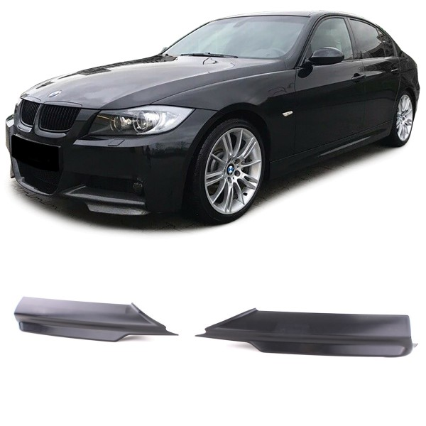 Spoiler Ecken Splitter für BMW 3er E90 E91 Limo Touring 05-08 mit M Stoßstange