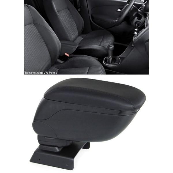 Gepolsterte Mittelarmlehne klappbar mit Staufach schwarz für Dacia Duster 11-17