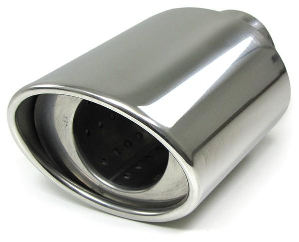 Carparts-Online 12754 Edelstahl Endrohr oval Ellipse Custom Style