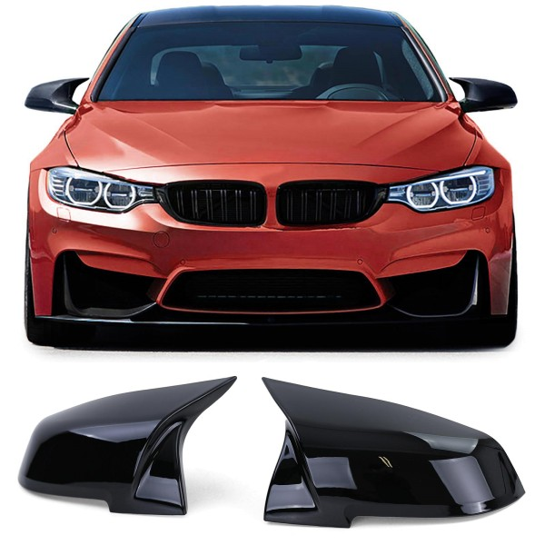 Spiegelkappen zum Austausch Schwarz Glanz für BMW F30 F31 F34 F32 F33 F36 F20