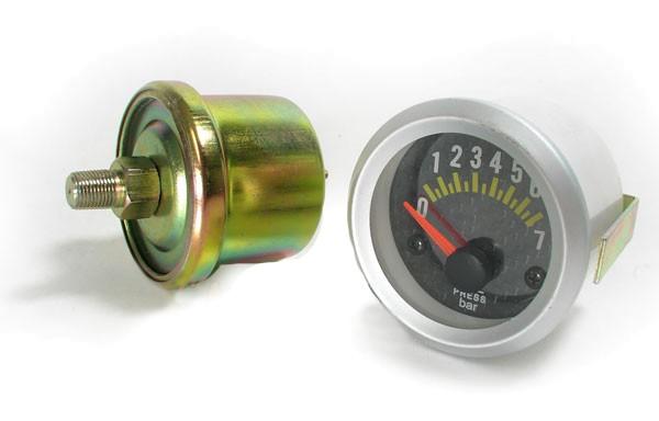 Öldruck Anzeige Zusatz Instrument 52mm Carbon