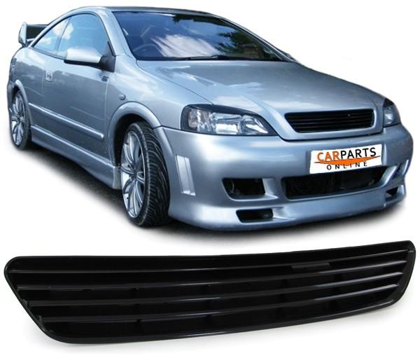 Kühlergrill Opel Astra G Limousine schwarz Frontgrill Sport Grill ohne Emblem