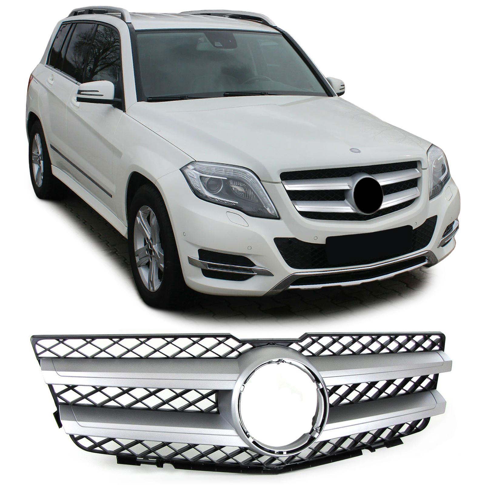 Sport Kühlergrill Silber Schwarz Matt für Mercedes GLK X204 Vorfacelift 08-12