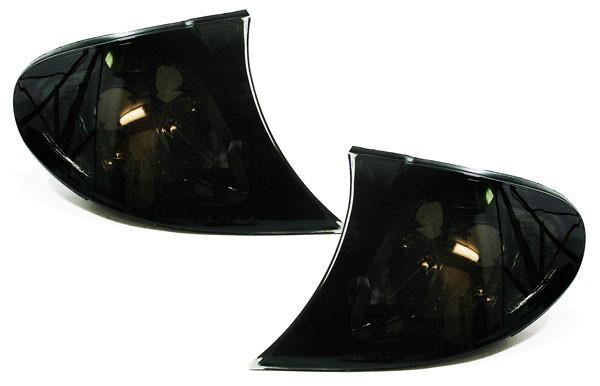 Klarglas Blinker schwarz smoke für BMW 3ER E46 Limousine Touring 01-05