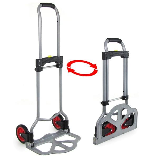 Ramroxx Profi Transport Sackkarre Stapelkarre ausziehbar klappbar grau bis 60 kg