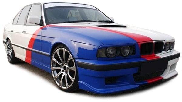 Scheinwerfer schwarz - Paar für BMW 5er E34 88-95 + 7er E32 88-94