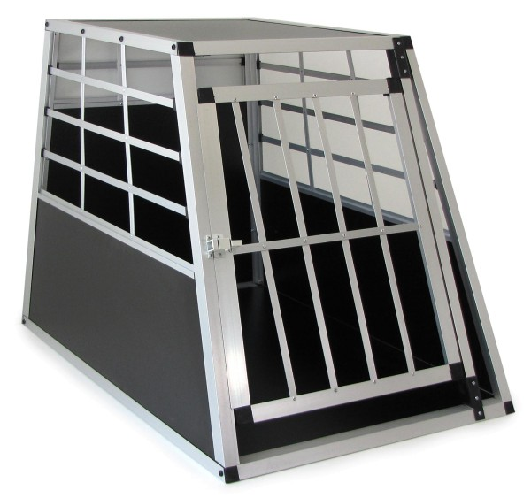 Alu Hunde Tier Reise Auto Transportbox mit Tür XXL 90x70x65cm