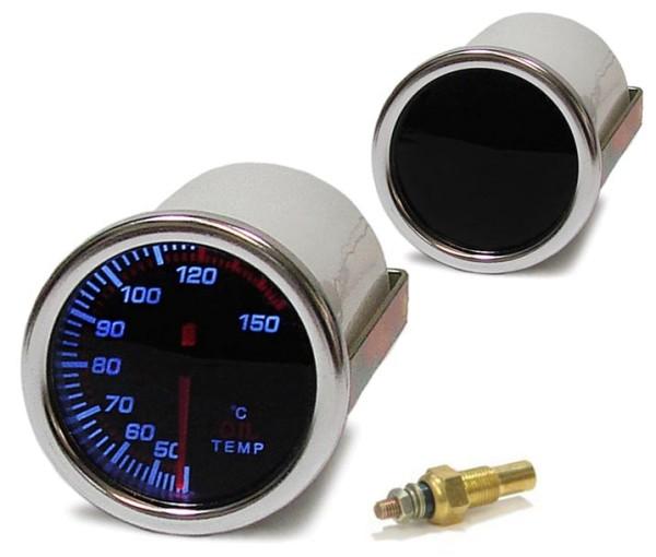 Öltemperatur Anzeige Zusatz Instrument 52mm black Magic