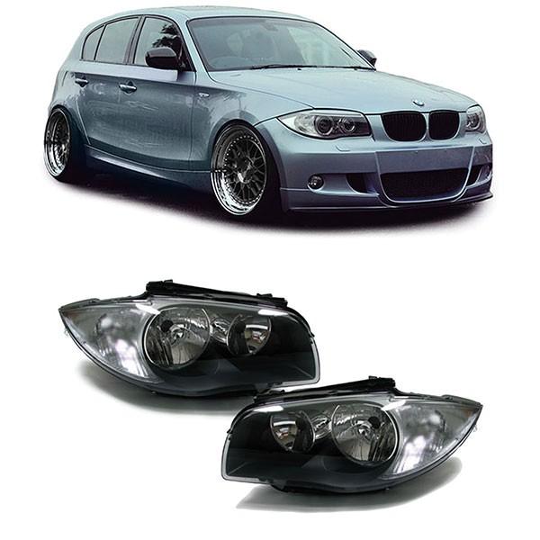 Ab 04 H7 H7 Scheinwerfer schwarz Paar für BMW E81 E82 E87 E88