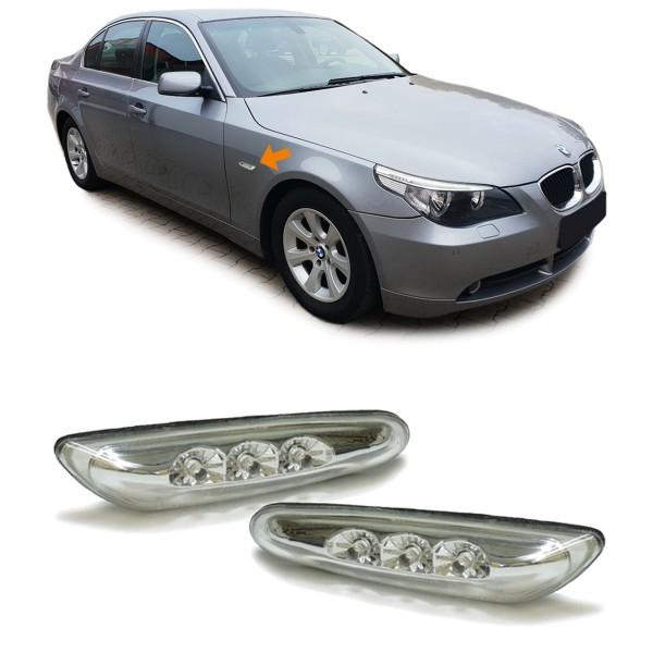 LED Seitenblinker chrom für BMW E46 E60 E61 X3 E83
