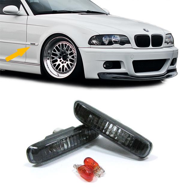 Klarglas Seitenblinker schwarz fr BMW 3ER E46 98-03 Lichter ...