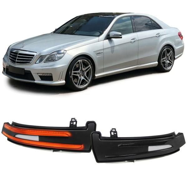 Dynamische LED Aussenspiegel Blinker schwarz für Mercedes W212 W204 W176 W246