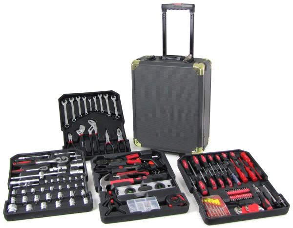 Profi Werkzeugtrolley Werkstattkoffer Kasten gefüllt 186 teilig