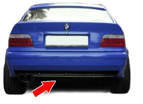 Sport Heckdiffusor Einsatz für Serien Stoßstange 3ER BMW E36