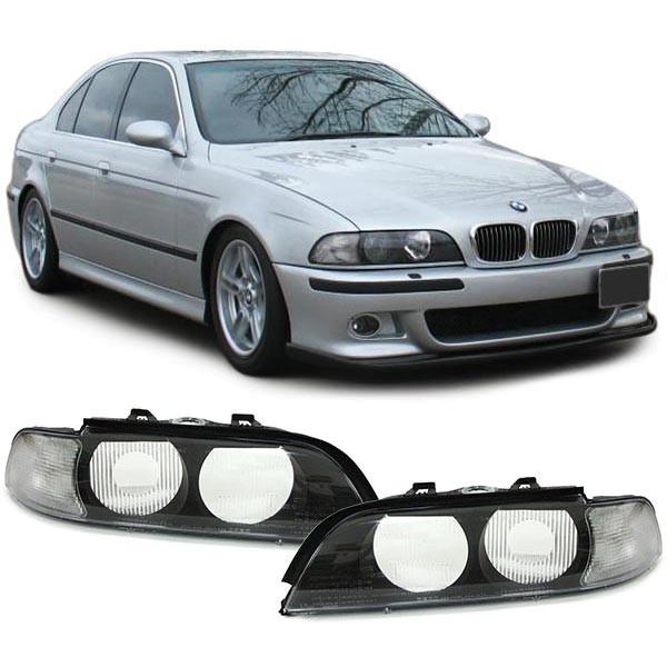 Streuscheiben Scheinwerferglas Blinker weiß für Xenon Paar für BMW 5er E39