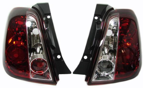 Klarglas Rückleuchten rot klar für FIAT 500 ab 07