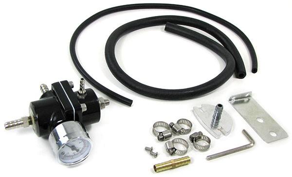 Benzindruck Regler Set einstellbar schwarz universell