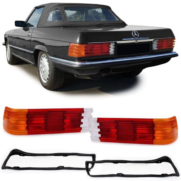 Rückleuchten Lichtfenster mit Dichtungen Paar für Mercedes SL R107 SLC C107