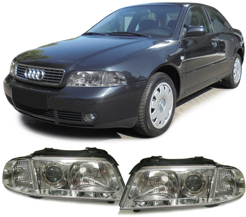 Audi-A4-B5-99-01-FACELIFT-DE-KLARGLAS-SCHEINWERFER-PAAR