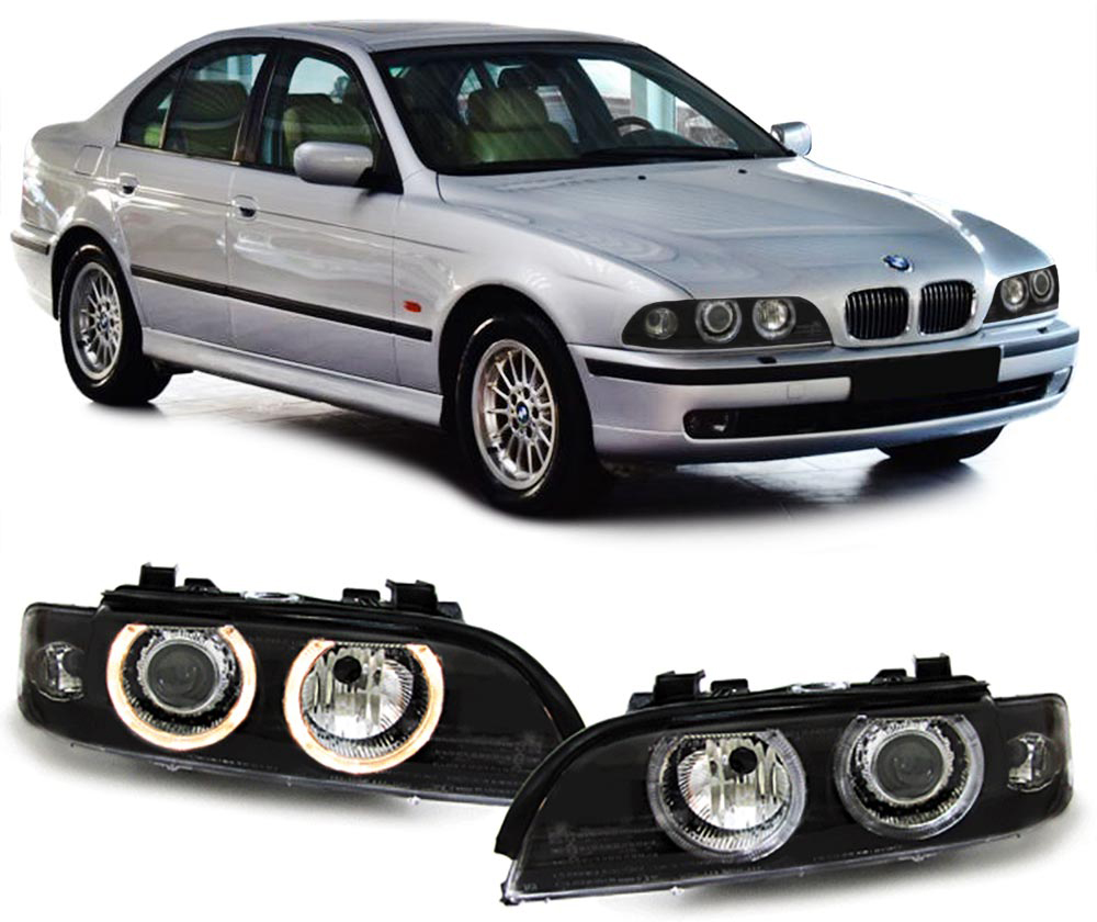 bmw e39 95 00 xenon scheinwerfer facelift optik black ebay. Black Bedroom Furniture Sets. Home Design Ideas
