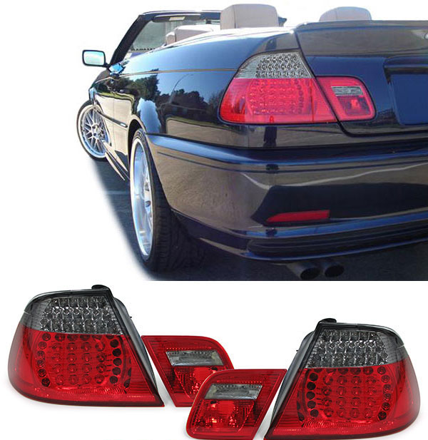 Bmw E46 Convertible Led Rear Tail Light Wing Lamp Red Black M3 Look Ebay
