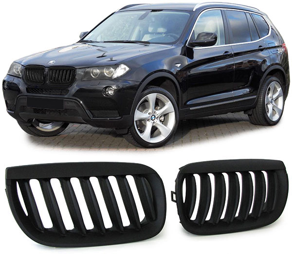 bmw x3 e83 03 06 nieren grill schwarz ebay. Black Bedroom Furniture Sets. Home Design Ideas